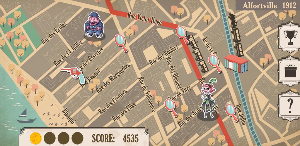 Carte du jeu Les Mystères d'Alfortville
